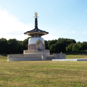 The Peace Pagoda in Milton Keynes
