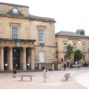 Old Town Hall in Market Place, Mansfield