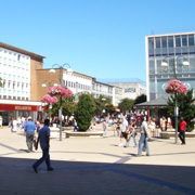 Queens Square in Crawley Town Centre
